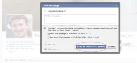 Facebook Pays 100 dollar for a message