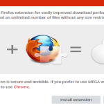 Try Mega's mozilla firefox browser extension