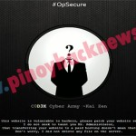 C0d3x cyber army launched #opSecure, a summer operation.