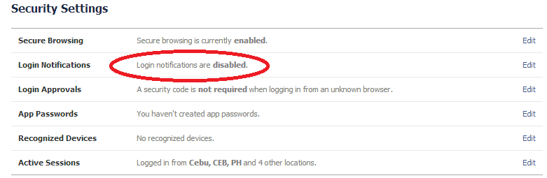 security disabled
