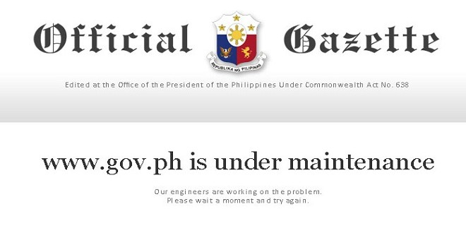 gov.ph inaccessible