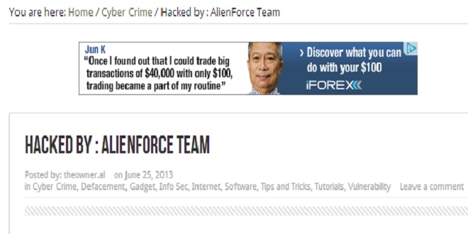 pinoyhacknews hacked by owner.al of alienforce