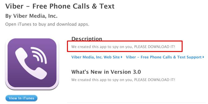 Apple app store account of Viber appears to be hacked