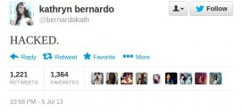 Kathryn Bernardo Twitter account hacked