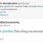 Syrian Electronic Army warns Twitter, gained back account