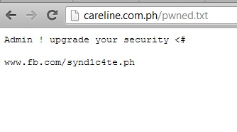 synd1c4te hacked careline.com.ph