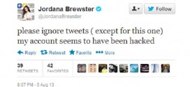 Actress Jordana Brewster of Fast & Furious twitter account hacked