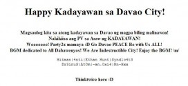 Hackers greet Davao happy kadayawan by defacing festival's official website