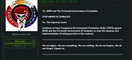 One of the corporate miners website in Zambales defaced