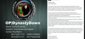 Operation dynasty down hijacked Facebook and leaks mobile number of Leyte Vice Governor