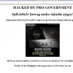 Unknown pro government hacker challenges pR.is0n3r of anonymous Philippines