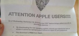 New York Police Department asked citizens to update iPads, iPhones to iOS7.