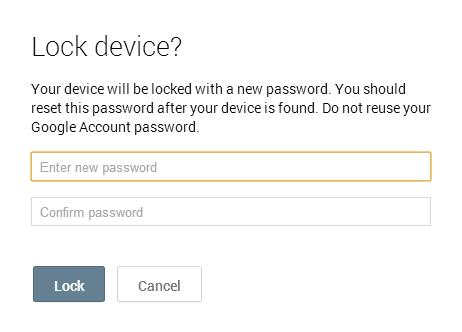 Secure your android device, lock it remotely when lost or