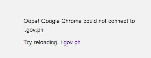 i.gov.ph down ( from Google chrome )