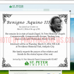 St. Peter Chapels website hacked, added Pres. Pnoy in the Obituary.