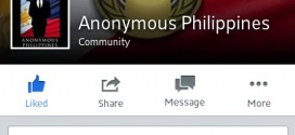 Facebook took down the Anonymous PHL. page.
