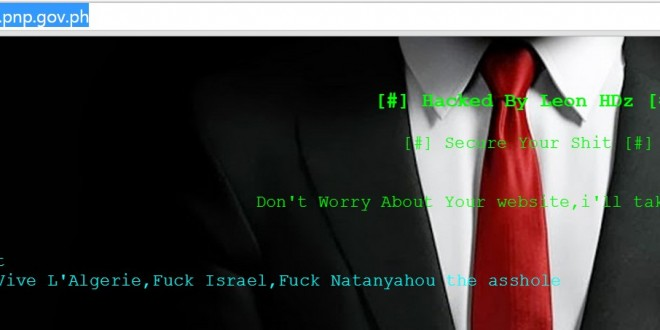 philippine national police website defaced