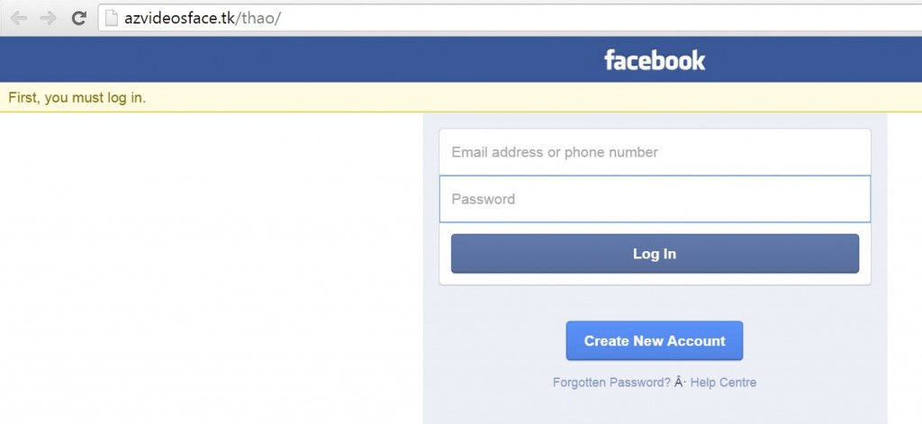 facebook phising site